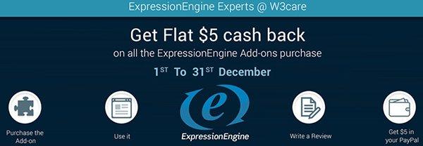 Get Flat $5 Cash Back on EE Add-ons Development