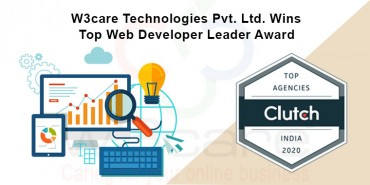 W3care Technologies Pvt Ltd Wins Top Web Developer Leader Award