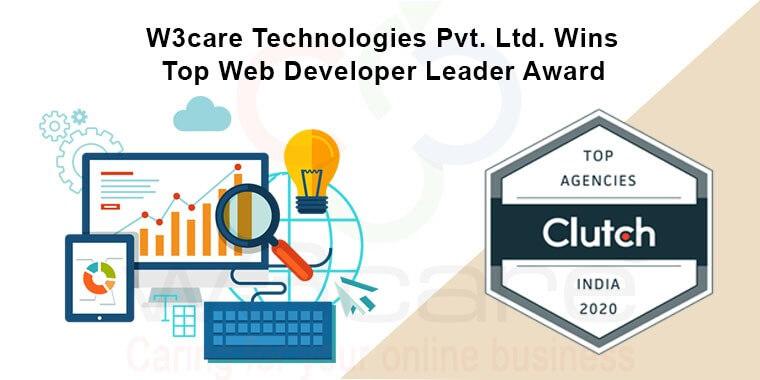 W3care Technologies Pvt Ltd Wins Top Web Developer Leader Award