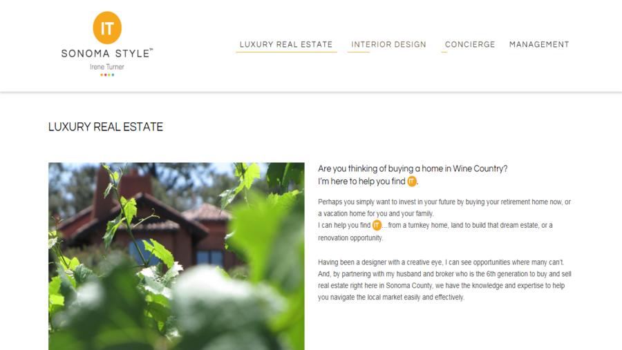 Real Estate Sonoma Style - Irene Turner