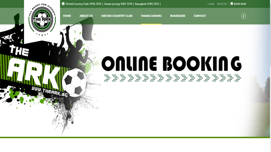 The Ark- a pitch booking website