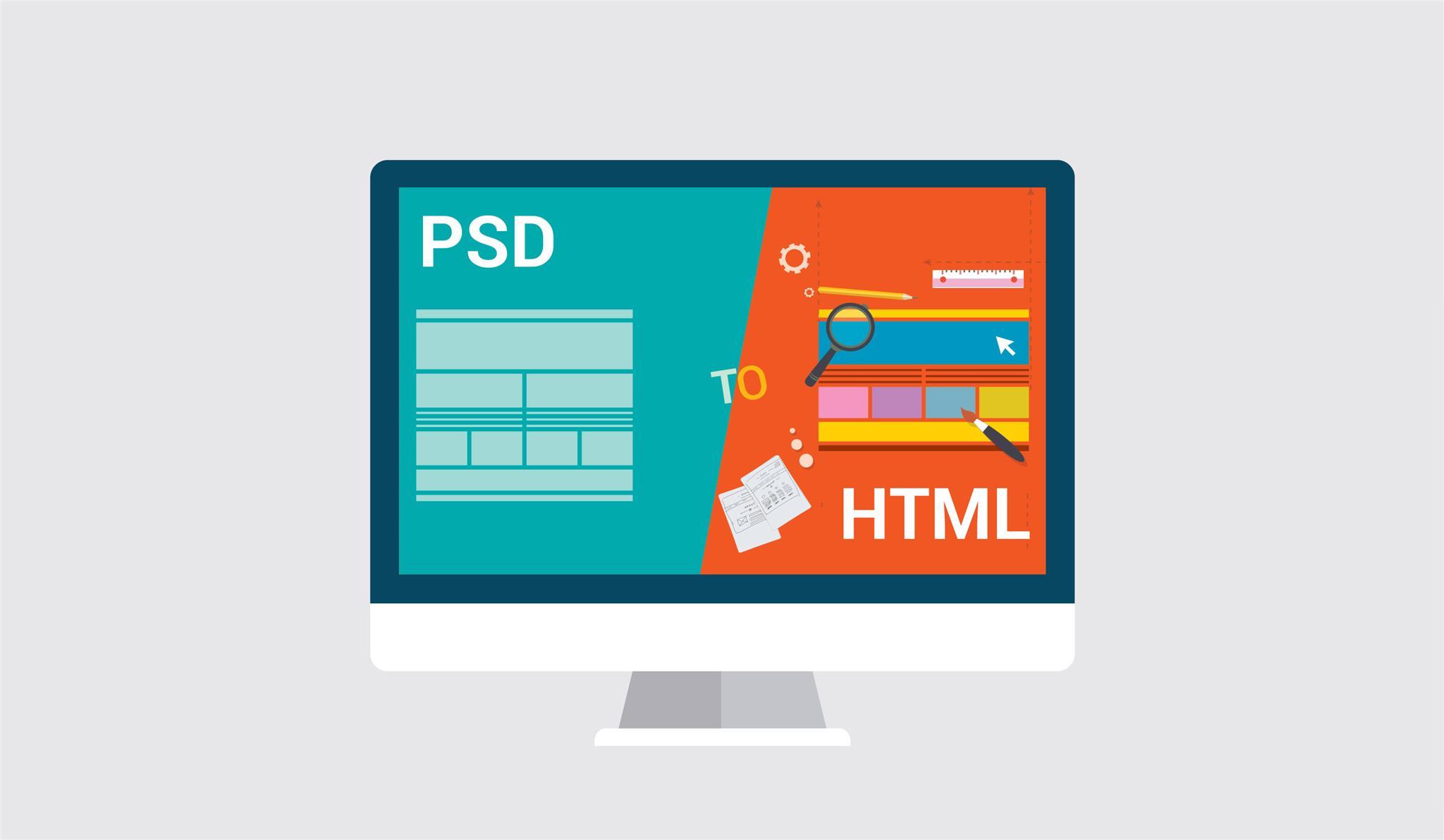 PSD to HTML India